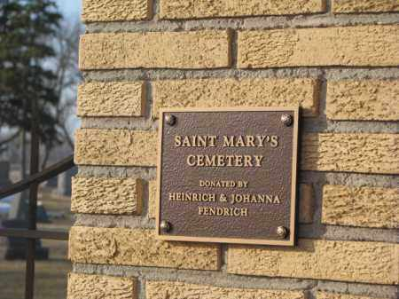 *ST. MARY'S, ENTRY SIGN - McCook County, South Dakota | ENTRY SIGN *ST. MARY'S - South Dakota Gravestone Photos
