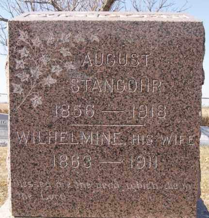 STANGOHR, AUGUST - McCook County, South Dakota | AUGUST STANGOHR - South Dakota Gravestone Photos