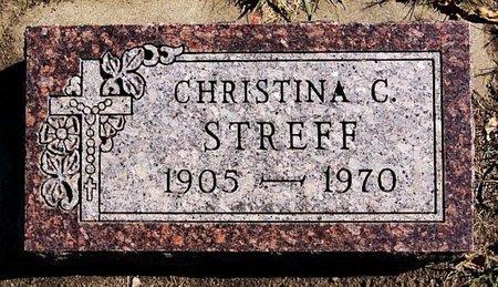 STREFF, CHRISTINA C - McCook County, South Dakota | CHRISTINA C STREFF - South Dakota Gravestone Photos