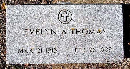 THOMAS, EVELYN A - McCook County, South Dakota   EVELYN A THOMAS - South Dakota Gravestone Photos