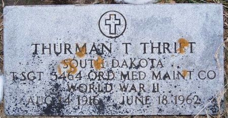 THRIFT, THURMAN T (WWII) - McCook County, South Dakota   THURMAN T (WWII) THRIFT - South Dakota Gravestone Photos