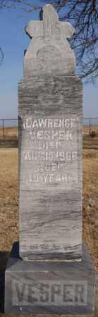 VESPER, LAWRENCE - McCook County, South Dakota | LAWRENCE VESPER - South Dakota Gravestone Photos