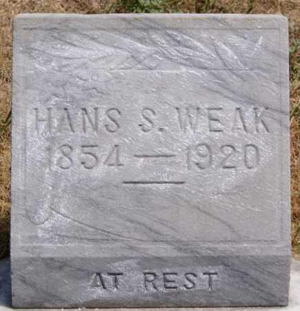 WEAK, HANS S - McCook County, South Dakota | HANS S WEAK - South Dakota Gravestone Photos