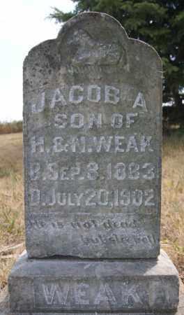 WEAK, JACOB A - McCook County, South Dakota | JACOB A WEAK - South Dakota Gravestone Photos
