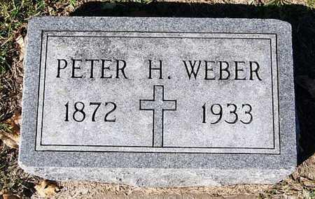 WEBER, PETER H - McCook County, South Dakota   PETER H WEBER - South Dakota Gravestone Photos