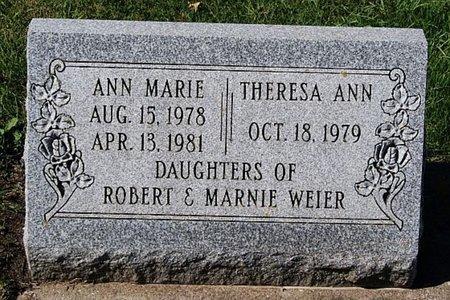 WEIER, THERESA ANN - McCook County, South Dakota | THERESA ANN WEIER - South Dakota Gravestone Photos