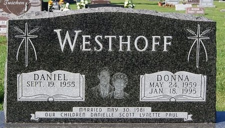WESTHOFF, DANIEL - McCook County, South Dakota | DANIEL WESTHOFF - South Dakota Gravestone Photos