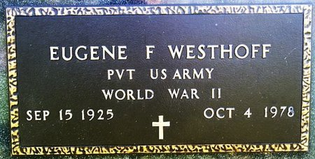 WESTHOFF, EUGENE F (WWII) - McCook County, South Dakota   EUGENE F (WWII) WESTHOFF - South Dakota Gravestone Photos