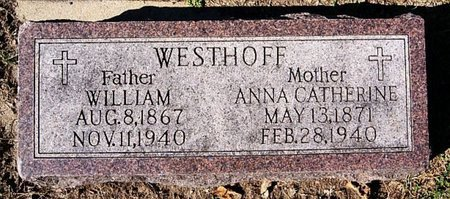 WESTHOFF, WILLIAM - McCook County, South Dakota | WILLIAM WESTHOFF - South Dakota Gravestone Photos