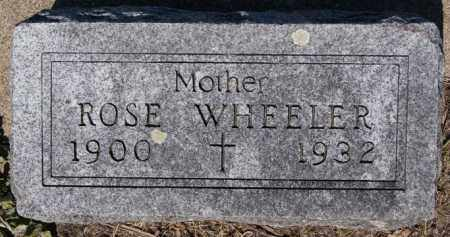 WHEELER, ROSE - McCook County, South Dakota | ROSE WHEELER - South Dakota Gravestone Photos