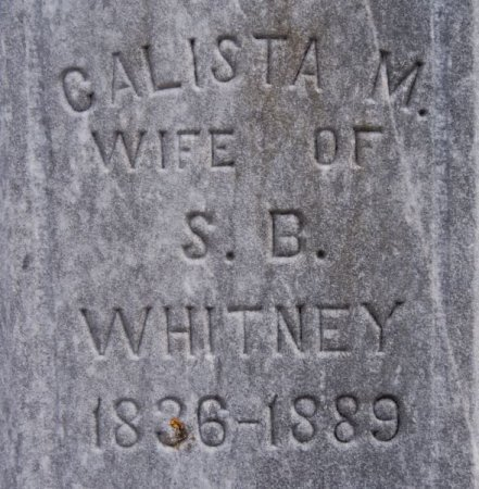 WHITNEY, CALISTA M CLOSE UP - McCook County, South Dakota | CALISTA M CLOSE UP WHITNEY - South Dakota Gravestone Photos
