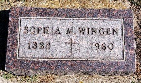 WINGEN, SOPHIA M - McCook County, South Dakota | SOPHIA M WINGEN - South Dakota Gravestone Photos