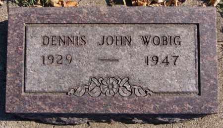 WOBIG, DENNIS JOHN - McCook County, South Dakota   DENNIS JOHN WOBIG - South Dakota Gravestone Photos