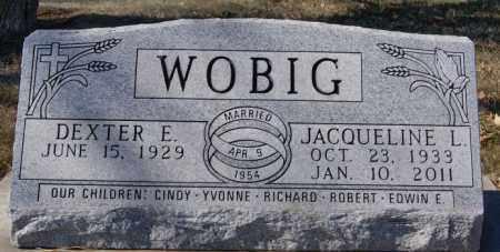 WOBIG, DEXTER E - McCook County, South Dakota | DEXTER E WOBIG - South Dakota Gravestone Photos