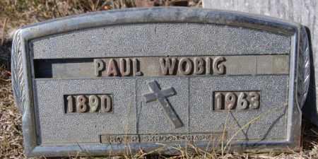 WOBIG, PAUL - McCook County, South Dakota   PAUL WOBIG - South Dakota Gravestone Photos