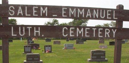 *SALEM-EMMANUEL LUTHERAN, CHURCH CEMETERY - McPherson County, South Dakota   CHURCH CEMETERY *SALEM-EMMANUEL LUTHERAN - South Dakota Gravestone Photos