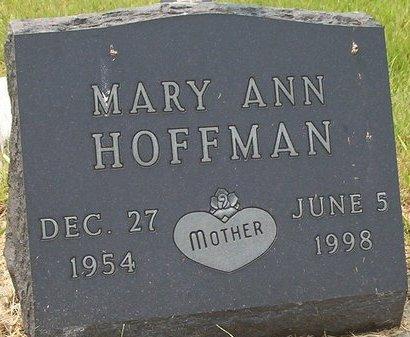 HOFFMAN, MARY ANN - McPherson County, South Dakota   MARY ANN HOFFMAN - South Dakota Gravestone Photos