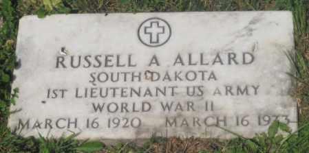 ALLARD, RUSSELL  A. - Mellette County, South Dakota   RUSSELL  A. ALLARD - South Dakota Gravestone Photos