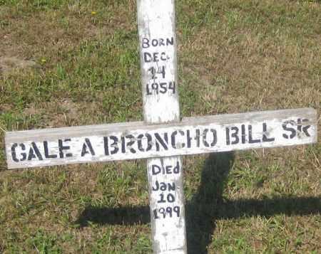 BRONCHO BILL  SR, GALE  A. - Mellette County, South Dakota | GALE  A. BRONCHO BILL  SR - South Dakota Gravestone Photos