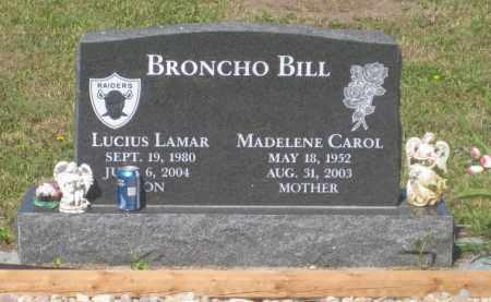 BRONCHO BILL, MADELENE  CAROL - Mellette County, South Dakota | MADELENE  CAROL BRONCHO BILL - South Dakota Gravestone Photos