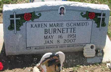 SCHMIDT BURNETTE, KAREN MARIE - Mellette County, South Dakota   KAREN MARIE SCHMIDT BURNETTE - South Dakota Gravestone Photos