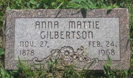 MATTIE GILBERTSON, ANNA - Mellette County, South Dakota   ANNA MATTIE GILBERTSON - South Dakota Gravestone Photos