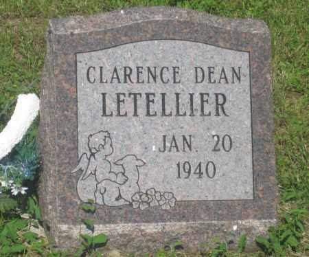 LETELLIER, CLARENCE  DEAN - Mellette County, South Dakota   CLARENCE  DEAN LETELLIER - South Dakota Gravestone Photos
