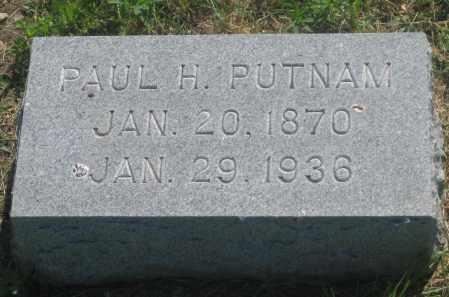 PUTNAM, PAUL  H. - Mellette County, South Dakota   PAUL  H. PUTNAM - South Dakota Gravestone Photos