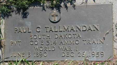 TALLMANDAN, PAUL C. - Mellette County, South Dakota   PAUL C. TALLMANDAN - South Dakota Gravestone Photos
