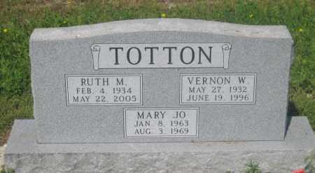 TOTTON, RUTH  M. - Mellette County, South Dakota | RUTH  M. TOTTON - South Dakota Gravestone Photos