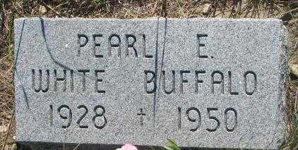WHITE BUFFALO, PEARL E. - Mellette County, South Dakota   PEARL E. WHITE BUFFALO - South Dakota Gravestone Photos