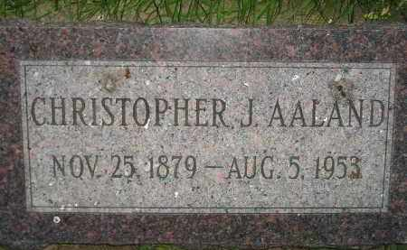 AALAND, CHRISTOPHER J. - Miner County, South Dakota   CHRISTOPHER J. AALAND - South Dakota Gravestone Photos