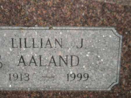 AALAND, LILLIAN J. - Miner County, South Dakota   LILLIAN J. AALAND - South Dakota Gravestone Photos
