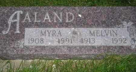 AALAND, MYRA - Miner County, South Dakota   MYRA AALAND - South Dakota Gravestone Photos