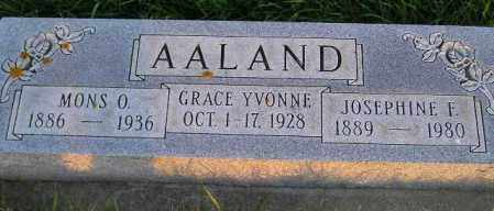AALAND, JOSEPHINE F. - Miner County, South Dakota | JOSEPHINE F. AALAND - South Dakota Gravestone Photos