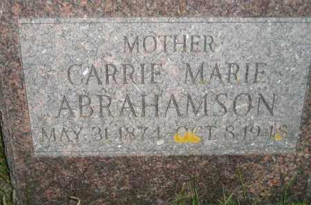 ABRAHAMSON, CARRIE MARIE - Miner County, South Dakota   CARRIE MARIE ABRAHAMSON - South Dakota Gravestone Photos