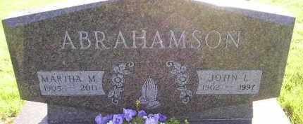 ANDER ABRAHAMSON, MARTHA M - Miner County, South Dakota | MARTHA M ANDER ABRAHAMSON - South Dakota Gravestone Photos