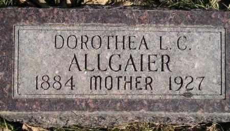 ALLGAIER, DOROTHEA L.C. - Miner County, South Dakota   DOROTHEA L.C. ALLGAIER - South Dakota Gravestone Photos