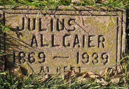 ALLGAIER, JULIUS - Miner County, South Dakota | JULIUS ALLGAIER - South Dakota Gravestone Photos