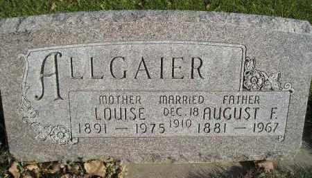 ALLGAIER, AUGUST F. - Miner County, South Dakota | AUGUST F. ALLGAIER - South Dakota Gravestone Photos