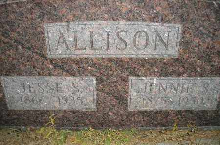 ALLISON, JENNIE S. - Miner County, South Dakota | JENNIE S. ALLISON - South Dakota Gravestone Photos