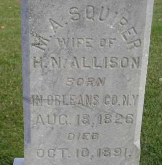 ALLISON, M.A. SQUIRER - Miner County, South Dakota | M.A. SQUIRER ALLISON - South Dakota Gravestone Photos