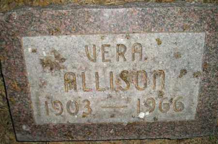 ALLISON, VERA - Miner County, South Dakota | VERA ALLISON - South Dakota Gravestone Photos