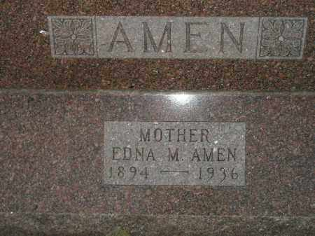 AMEN, EDNA M. - Miner County, South Dakota | EDNA M. AMEN - South Dakota Gravestone Photos