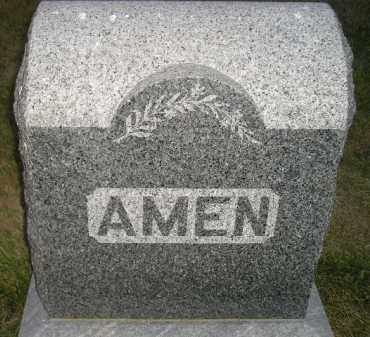 AMEN, FAMILY STONE - Miner County, South Dakota | FAMILY STONE AMEN - South Dakota Gravestone Photos