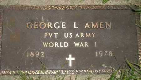 AMEN, GEORGE L. (WW I) - Miner County, South Dakota | GEORGE L. (WW I) AMEN - South Dakota Gravestone Photos