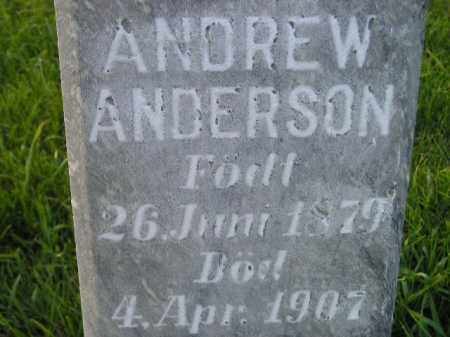ANDERSON, ANDREW - Miner County, South Dakota | ANDREW ANDERSON - South Dakota Gravestone Photos