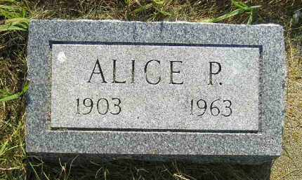 ANDERSON, ALICE P. - Miner County, South Dakota | ALICE P. ANDERSON - South Dakota Gravestone Photos