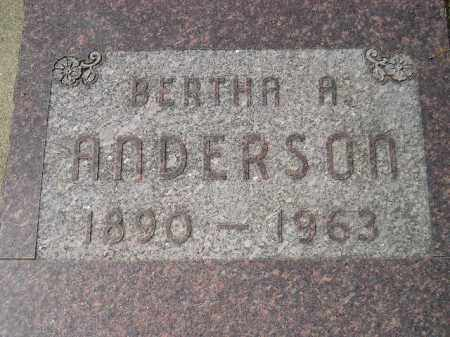 ANDERSON, BERTHA A. - Miner County, South Dakota | BERTHA A. ANDERSON - South Dakota Gravestone Photos