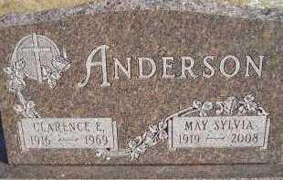 ANDERSON, MAY SYLVIA - Miner County, South Dakota | MAY SYLVIA ANDERSON - South Dakota Gravestone Photos